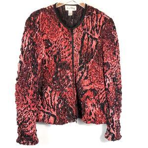 Joseph Ribkoff Crinkle Vintage 90's Zip Up Jacket